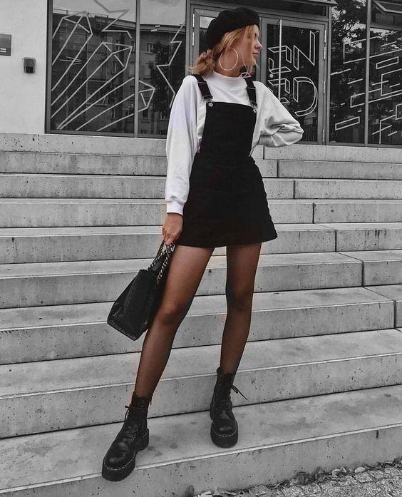 Cách mix đồ với chân váy jean ngắn