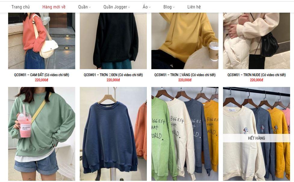 shop bán áo hoodie nữ tphcm